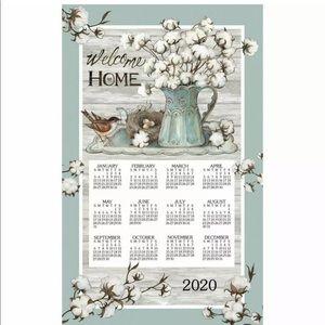 Kay Dee Designs Linen Calendar Towel 2020